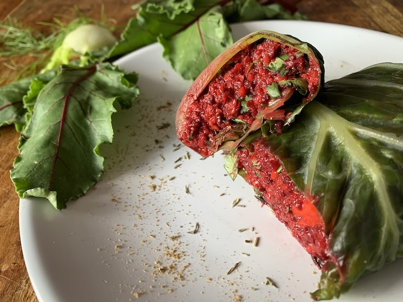 Raw Vegan Beetroot Wrap